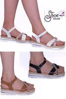 Womens Ladies Platform Wedge Summer Girl Espadrilles Low Heel Sandals Shoes