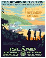 """LOST TV """"THE ISLAND NATIONAL PARK"""" CHARITY EDITION GICLEE PRINT MARK ENGLERT"""