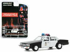"GREENLIGHT 44890F 1987 CHEVROLET CAPRICE POLICE ""TERMINATOR 2"" 1/64 DIECAST CAR"