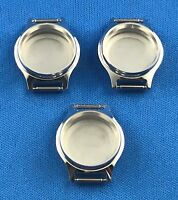 3 Pcs Unbranded Watch Case Part -Incabloc- Swiss Made -Stainless Steel Back- #99