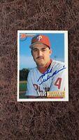1993 Bowman Mike Williams #568 - Philadelphia Phillies- Autographed!
