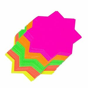Neon Cards Fluorescent Stars Price Display Tags Flourescent Labels Pricing x 60