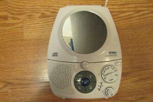 Jensen JCR-545A  AM/FM  Shower Radio with  CD Player  White