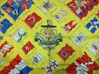 Authentic HERMES Scarf 100% Silk PAVOIS Yellow Multi Color Good 84653