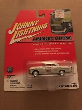 Johnny Lightning 1/64 American chrome 1955 Chrysler c300 race car NIB
