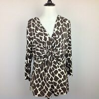 Chaus Top Womens Large Animal Print Stretch