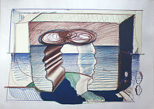 DIETER ROTH Testa doppia riva mare 1973. Serigrafie Fluxus Iannone manus pressa