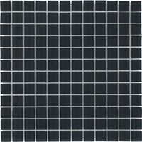 Modern Uniform Squares Black Glass Mosaic Tile Backsplash Kitchen Wall MTO0359