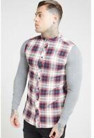 Gorgeous SikSilk Shirt Men's Check Grandad Shirt, Size M. RRP £65