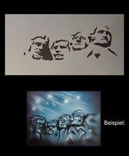 Airbrush Schablone Step by Step 296 Mount Rushmore