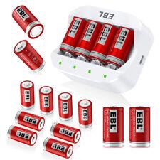 Lot EBL 16340 RCR123A 3.7V Li-ion Rechargable Battery / 4 Slots Smart Charger US