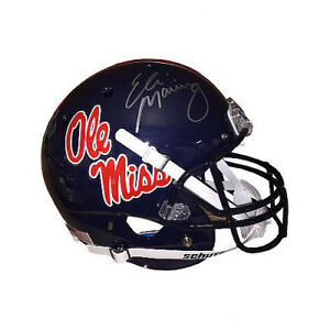 Eli Manning signed Ole Miss Rebels Dark Blue Full Size Rep Schutt Helmet-Steiner