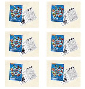 Paw Patrol Party Supplies 6 MINI COLOURING BOOKS Favours Activity Pads