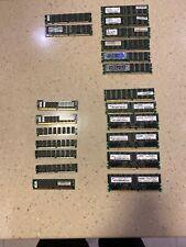 Lot of 128MB PC100@2, 256MB PC2100@6, 512MB PC2700@6, 8/16MB Modules@7