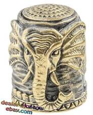 Bronze Solid Brass IronWork Thimble Elephant from the Jungle