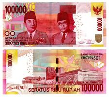 2014 Indonesia 100,000 Rupiah Uncirculated One Note