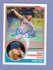 2018 TOPPS 1983 CHROME SILVER PACKS 40/50 AUTO AUTOGRAPH #17 NOAH SYNDERGAARD