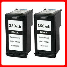 2 Black Non-OEM For HP 350XL Deskjet D4200 D4245 D4260 Black Ink Cartridge