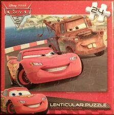 "DISNEY PIXAR CARS ~ 24 Piece Lenticular 3D Effect Motion Puzzle 12"" x 9"" Inches"