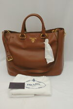 NWT Prada Vitello Daino Leather Shopping Satchel Shoulder Bag BN2522 Palissandro