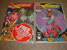 X-FORCE 1&2  2nd DEADPOOL AND 1st KANE
