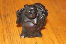Miniature Resin Laughing Buddha Happy Figurine Statue Figure Fen Shui Vintage