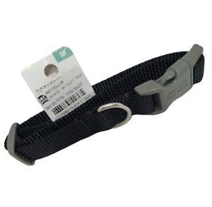 Basic Dog Collar Medium M Black - Boots & Barkley NEW