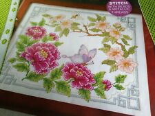 CROSS STITCH CHARTS JAPANESE ORIENTAL BLOSSOM FLORAL CHART ONLY
