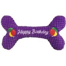 "10"" Petlou Happy Birthday Dog Toy Bone"