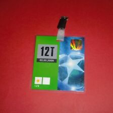 2009 CHAMPIONS LEAGUE SEMI FINAL ARSENAL V MAN UTD OFFICIAL MEDIA PASS TICKET