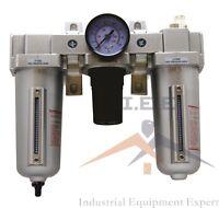 "3/4"" Air Filter Regulator Lubricator 3 pcs FRL Auto Drainer"