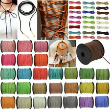 5Yards Korea Faux Suede Cord Flat Leather Cord DIY Rope Jewelry Making 2.5mm