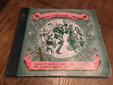 Vintage 33RPM Records- A CHRISTMAS CAROL- DICKENS- 4(8)discs- Mid Century-Victor