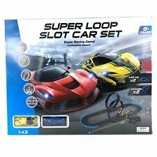 New Super Loop Slot Car Set Racing Game with Speed Controller Scale 1:43