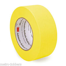 """3M 6656 06656 2"""" Yellow Automotive Refinish Masking Tape 48 mm x 55 m 6 Rolls"""