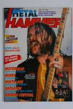 METAL HAMMER MAGAZINE JUNE 1989. LEMMY MOTORHEAD SLAYER QUEEN SABBAT COMPLETE