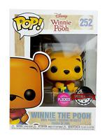 NEW Winnie the Pooh - Pooh Flocked Exclusive FUNKO Pop Vinyl Figure + PROTECTOR