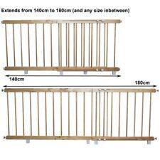 Wooden door barrier child / pet safety barrier extends 140cm - 180 cm