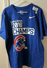 Dri-Fit Nike Chicago Cubs 2016 World Series Champions Champs Legend T-Shirt New