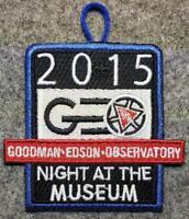 "2015 NOAC GEO 'Goodman Edson Observatory' - ""Night at the Museum"" Patch - OA/BSA"