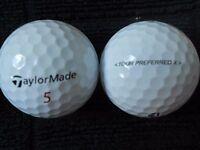 "10 TAYLORMADE - ""TOUR PREFERRED X"" - Golf Balls - ""PEARL"" Grade."