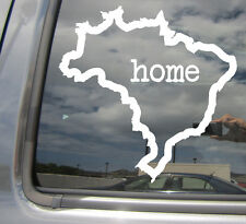 Brazil Brasil Home Country Outline - Car Vinyl Die-Cut Decal Sticker 07100