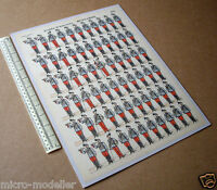 Hussards Armée Francaise c1900 Vintage Paper Soldiers #602 Delhalt Nancy France