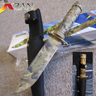 """Little Giant 9"""" - Woodland Camo - Military Style SURVIVAL KNIFE - Hunter Hunting"""