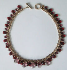 St. John Crystal Drop Necklace Couture Yellow Gold Tone