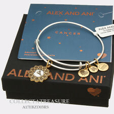 Authentic Alex and Ani Two Tone CANCER RG/RS Expandable Bangle