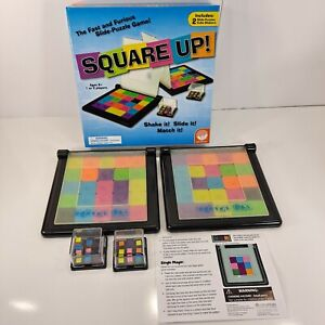 Square Up - Slide Puzzle Game like Rubiks Race Complete in Box