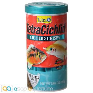 Tetra Cichlid Crisps 8.82oz (250g) Fish Food Advanced Clear Water Formula