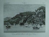 1845 Zuccagni-Orlandini Veduta della Villa Pliniana sul Lago di Como