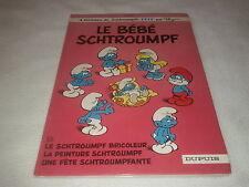 """Les schtroumpfs 12 """" Le bébé schtroumpf """" E.O de 1984 par Peyo"""